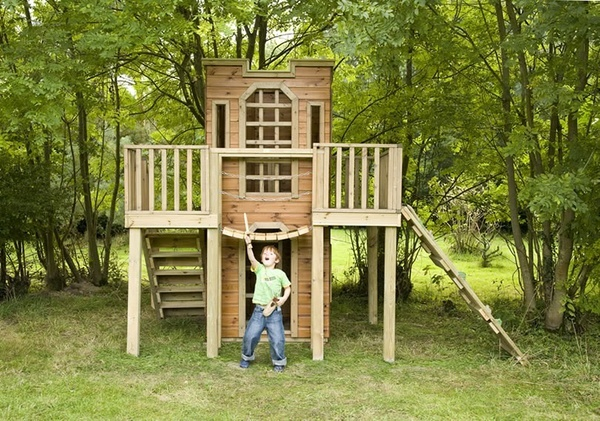 how to build an outdoor fort for kids