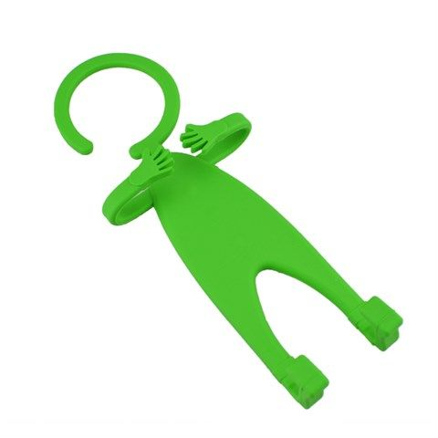 Multifunctional Human Shape Hanging Mobile Phone Holder (Green)