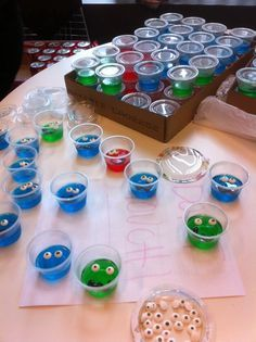 Cookie monster shots????  Jello Face Shot