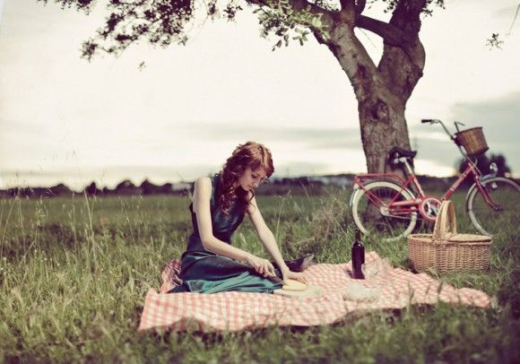 Bike until there's nothing/no one around, and have an old-fashioned picnic <3