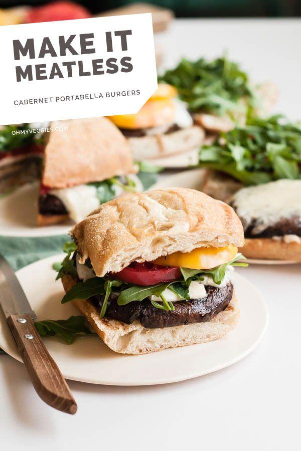 Cabernet Portabella Burgers