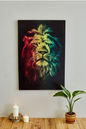 Rasta Lion Canvas Art