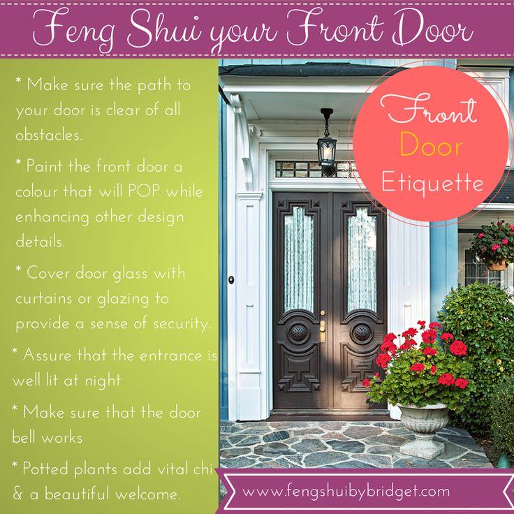 90 best images about Front Door Feng Shui on Pinterest  Red front