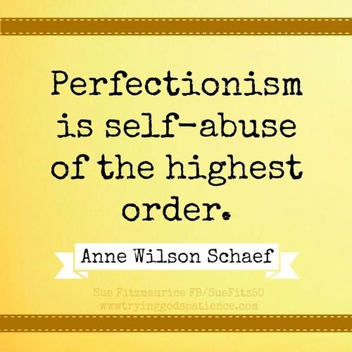 A blog post about the struggle of overcoming perfectionism.