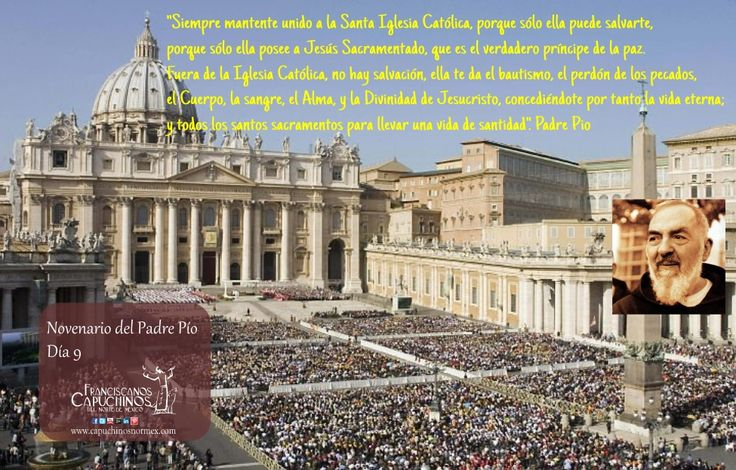 22 de Septiembre. Última día de la novena de Padre Pío.