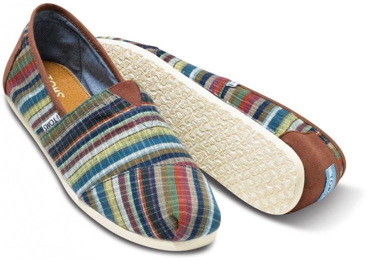 Toms Multi Renato Men's Classics heroFeatures Woven, Colors Tom, Men Classic, Tom Shoes, Multi Renato, Renato Men, Woven Stripes, Pairings Features, Comforters Colors
