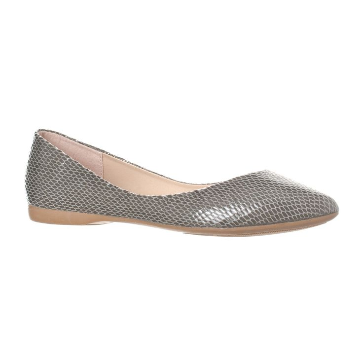 Riverberry Women's Ella Basic Closed Pointed Toe Ballet Flat Slip On Shoe, Grey Snake, 8. Ballerina inspired design in a comfortable, closed toe flat that you will love to wear. Pointed toe slip on flat with a slightly padded insole and a traction rubber full sole. Designed with comfort in mind to ensure ability to wear all day! Lower cut sides allow for good breathabilty while still keeping the shoe securely on your foot. Over 30 color / material options! Including faux leather, faux…