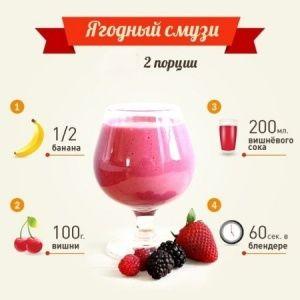 Ягодный смузи [yàgadnyj smùzi] - Berry smoothie 1/2 банана [adnà ftaràya banàna] - русский язык как иностранный, РКИ, ТРКИ, TORFL