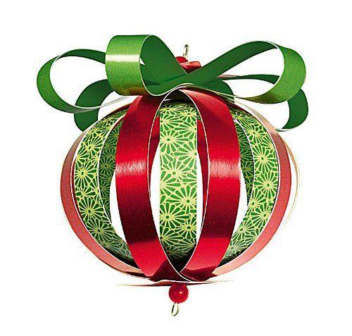 Бумажный шар из полосок бумаги - Поделка, Игрушка на елку своими руками к Рождеству, Новому году