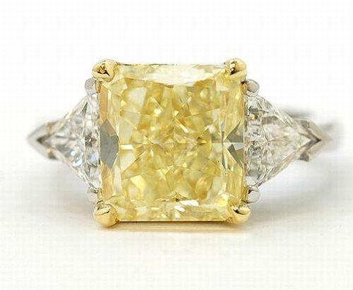 Yellow Diamond Ring Fancy Diamond Jewelry