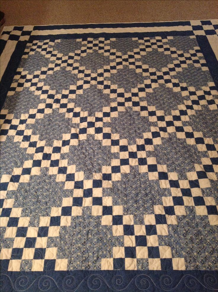 Quilt Pattern For Double Irish Chain : 25+ best ideas about Irish Chain Quilt on Pinterest Quilt patterns, Patchwork patterns and ...