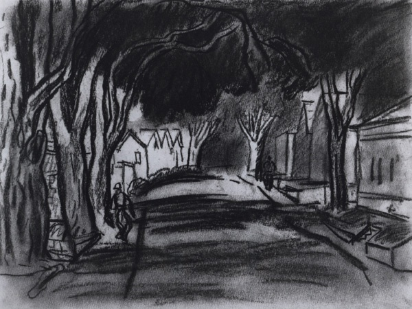 1934-35, charcoal on paper. Courtesy of Lori Bookstein Fine Art, New York.
