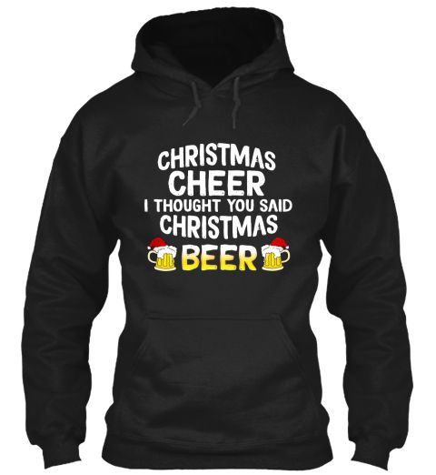 $28.99 Christmas Beer Funny Xmas Men Gift Black T-Shirt Front