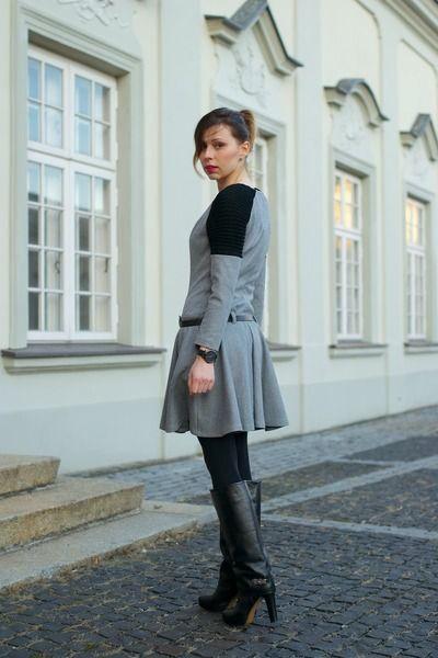 charcoal grey dress