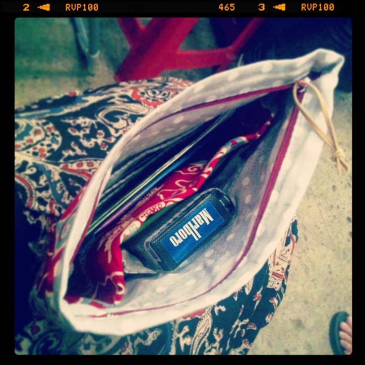 'Lunch to go' pouch - inside look By Zenia