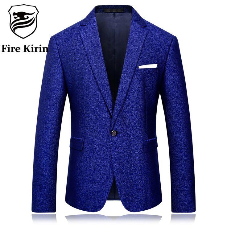 Royal Blue Blazer Men High Quality Blazer Masculino Slim Fit Mens Stage Wear Casual Wedding Groom Suit