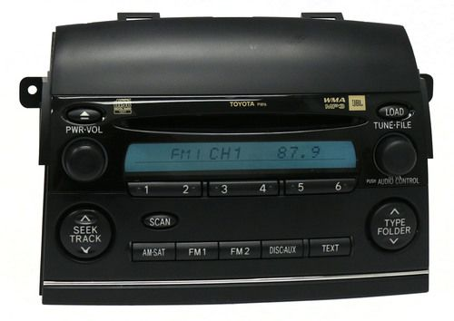 2006-2007 Toyota Sienna AM FM Pioneer Radio mp3 6 Disc CD 86120-AE062 Face P1816