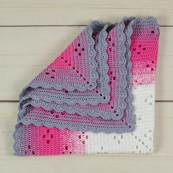 Hand Made crochet blanket throw blanket afgan baby blanket