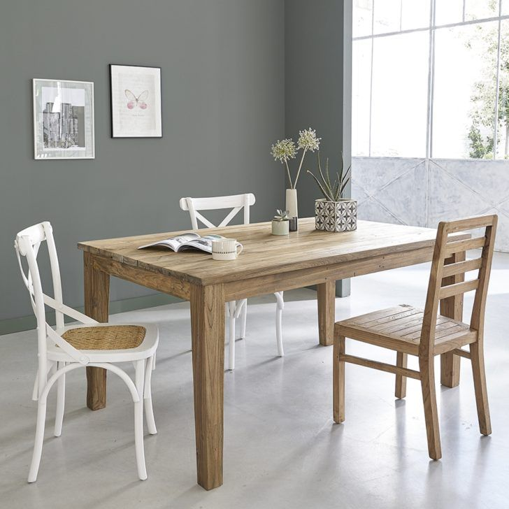 Interior Design Table 10 Personnes Table En Bois Teck Recycle Avec