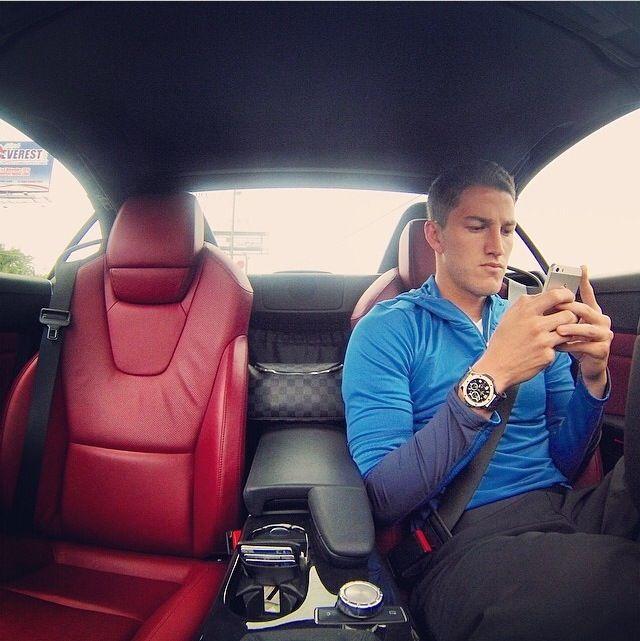 Hiram Mier on his car!! #Mier