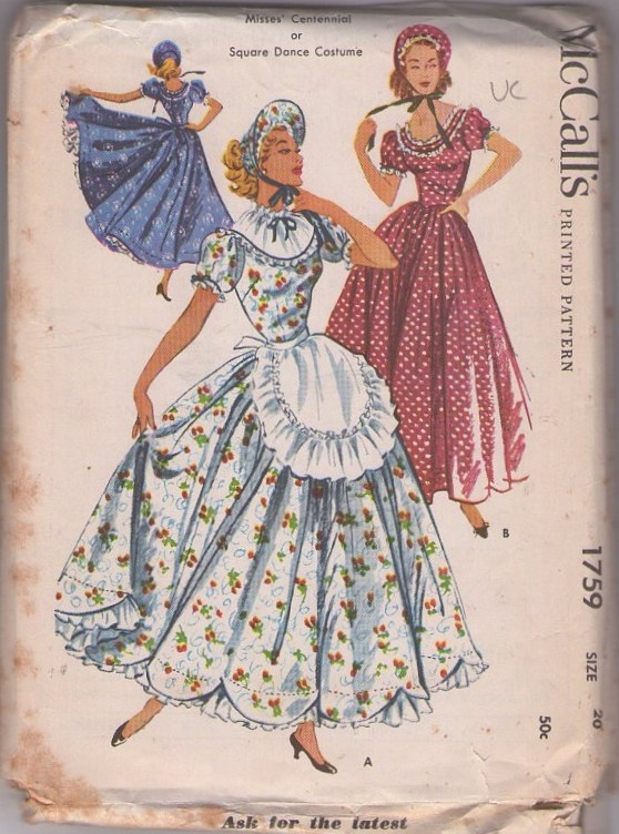 McCall's 1759 Vintage 50's Sewing Pattern AMAZING ...