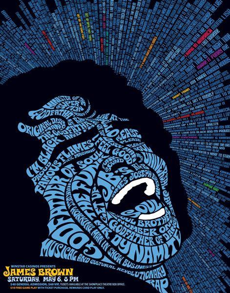 James Brown: James Of Arci, James Brown, The Godfather, Jamesbrown, Typography Poster, Posters Design, Graphics Design, Typography Art, Concerts Posters