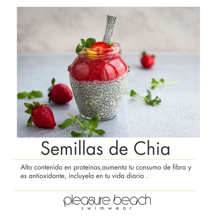 Chia seeds high in protein, increase your intake of fiber and antioxidant, include in your daily life  #semillasdechia #chiaseeds #health #swimwear # bikini #summer #verano