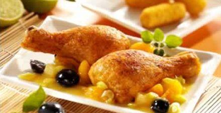 Recept van DRUMSTICKS MET FRUIT