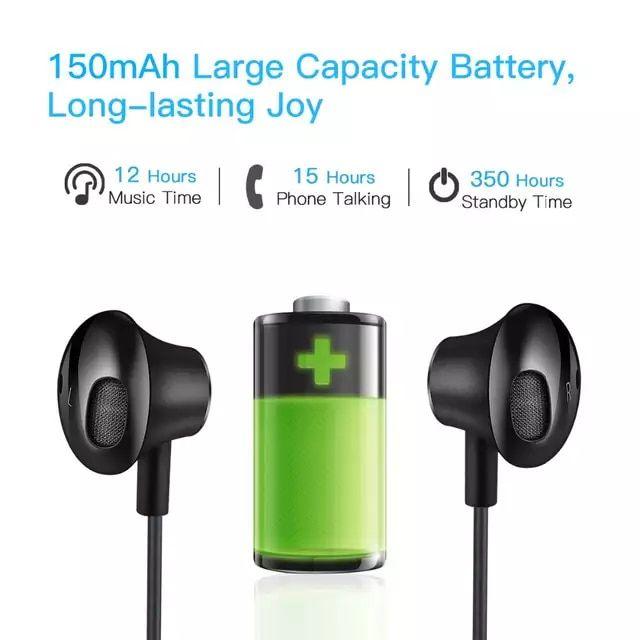 Wavefun Flex 2 Bluetooth 5 0 Earphone 15hrs Talking Time Wireless Headphone Ipx5 Waterproof For Xiaomi Iphone Headse Wireless Earphones Iphone Headset Earphone