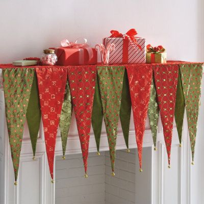 Kringle Mantle Scarf - Grandin Road Cute and looks easy to sew