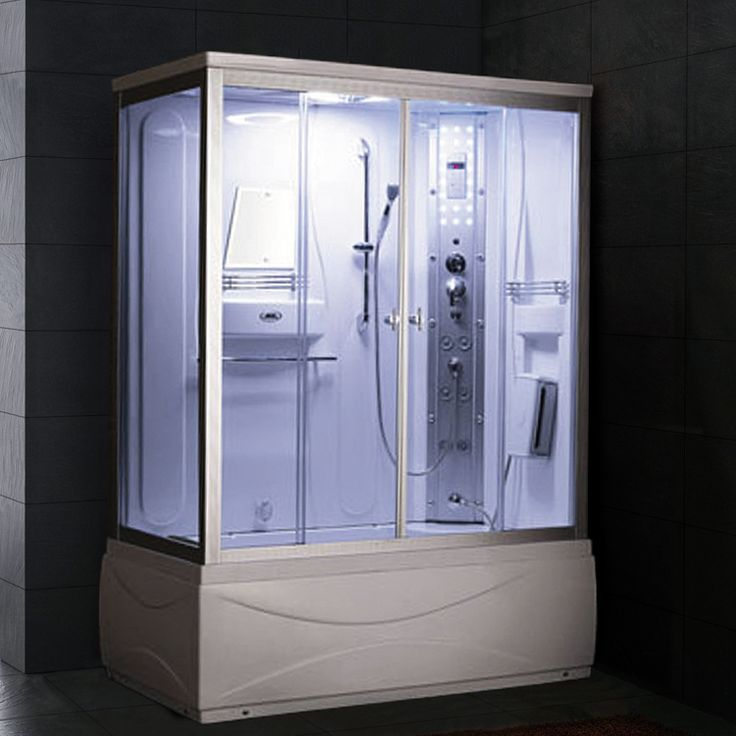 Ariel ss 608a steam shower with whirlpool bathtub for Whirlpool shower bath suites