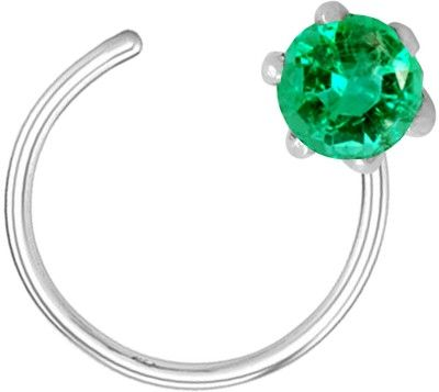Pearl Paradise Emerald Rhodium Plated Silver Nose Stud Price in India - Buy Pearl Paradise Emerald Rhodium Plated Silver Nose Stud Online at Best Prices in India   Flipkart.com