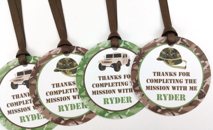 Army Party Favor Tags, Army Birthday Favor Tags, Camo Party Tags, Army Party Decorations, Camo Party Decorations - SET OF 12 by DandelionKidsPartyCo on Etsy https://www.etsy.com/listing/264324075/army-party-favor-tags-army-birthday