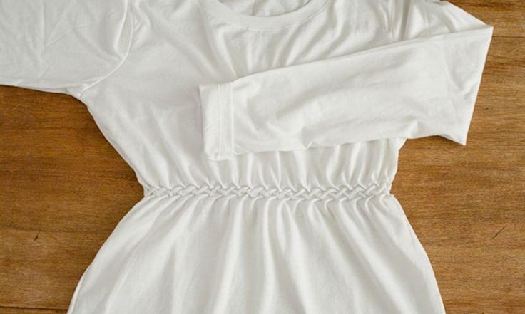 Приталиваем футболку с помощью буфов #DIY #fashionattack #футболка