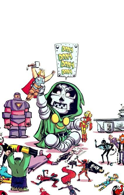Skottie Young: Secret Wars #1 baby variant cover