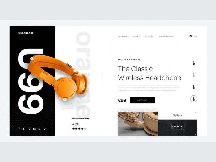 Wireless Headphone Landing Page