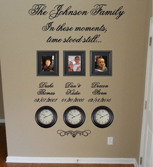 Time Stood Still Family Clock Wall Decal by GiftQueenGifts on Etsy, $39.99