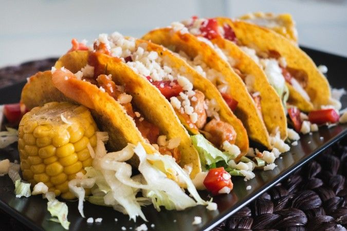 These tacos will quickly become a family favorite. Incredibly tasty with just a hint of spice. Top the chicken with queso fresco and your favorite toppings.