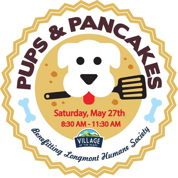 It's almost time for pancakes everyone! We hope you will join us for the 2nd annual Pups and Pancakes event benefitting Longmont Humane Society, Saturday, May 27th from 8:30 - 11:30 a.m. Enjoy Pancakes from Village Inn, Bacon from Bad Daddy's Burger Bar, delicious beverages from Ozo Coffee and Wyatt's Wet Goods as well as treats and activities for pups, kids, and adults. Purchase people and pup tickets and learn more at the link below…