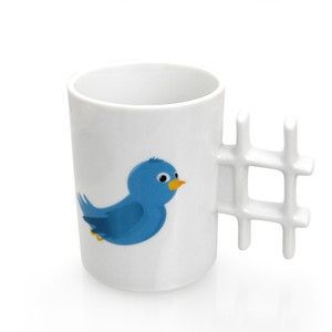 I don't drink coffee, but this Tweet Mug, $14.99, now featured on @Fab, is something I should own!