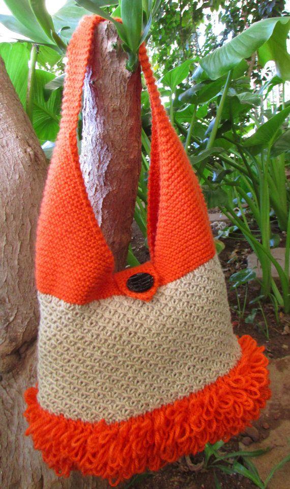 Bag Knitting Pattern  Rockey Hand Bag by BiggerthanlifeKnits