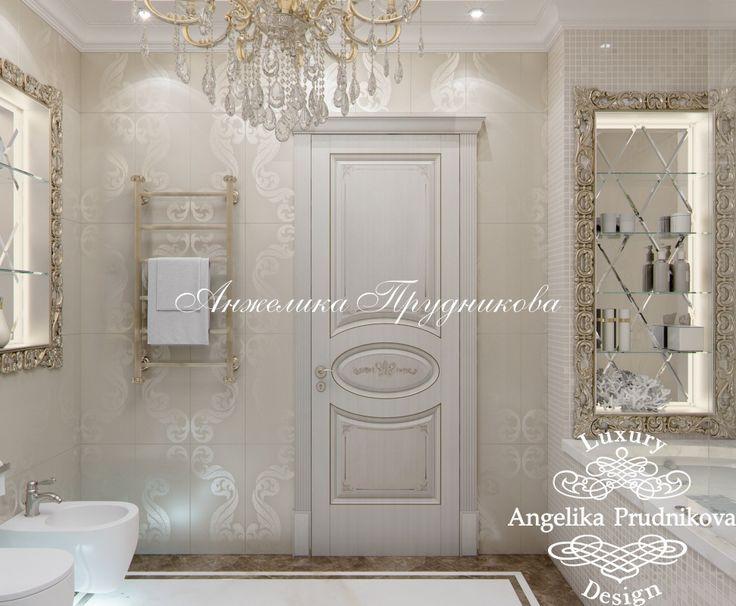 Дизайн проект ванной комнаты в классическом стиле на Профсоюзной. Фото 2016 - Дизайн ванной комнаты
