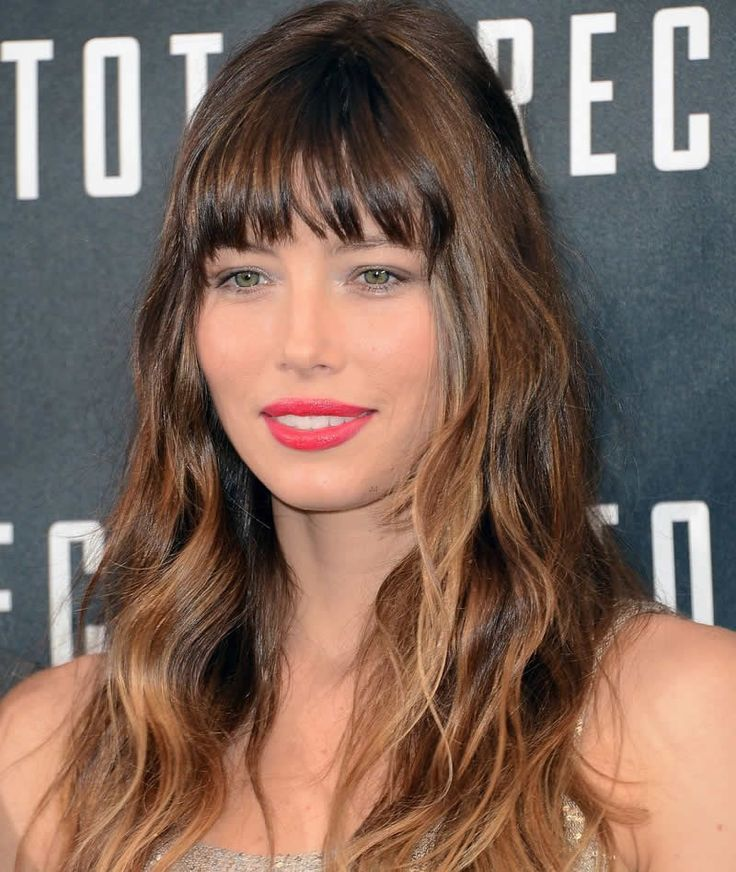 Bangs for an Oval Shaped Face  -- on Jessica Beil