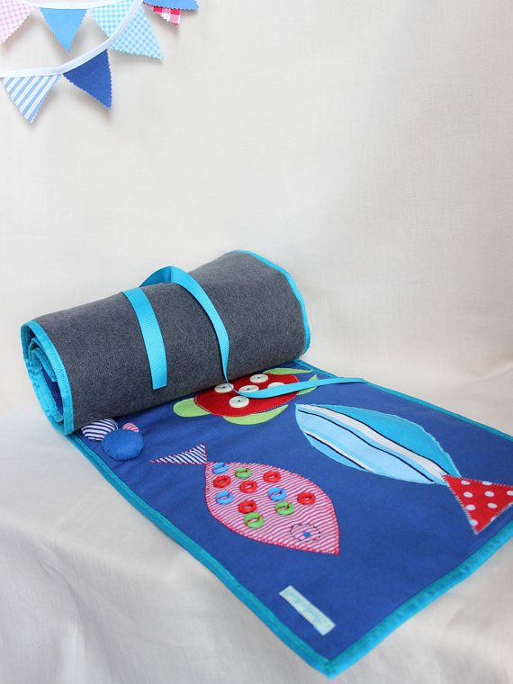 Playmat / playful game for baby or young children. Montessori This sensory playmat / massage blanket is cute and colorful, made of soft and