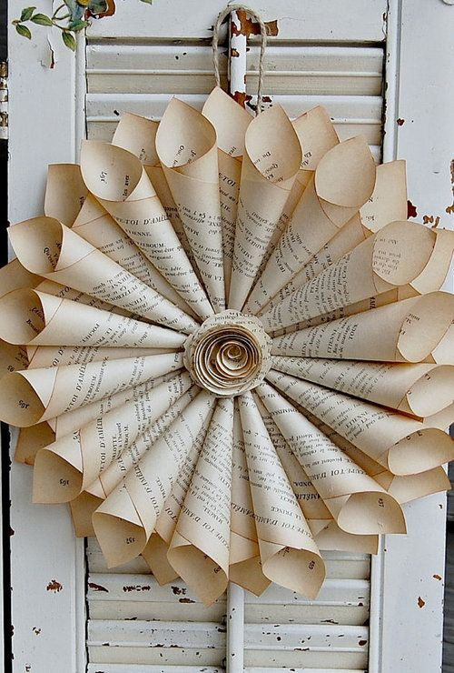 This is beautiful but all I can think when I see stuff like this is, how can anyone do this to a book!