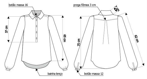 Desenho de moda técnico no Audaces Idea: cotas e indicações