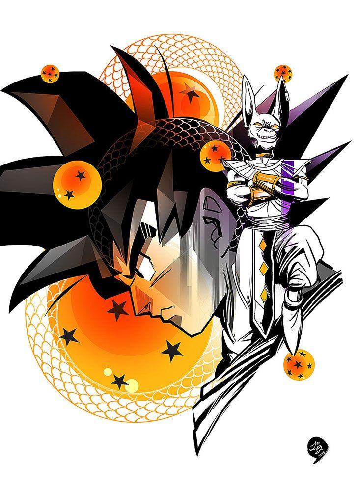 Goku & Bills #art