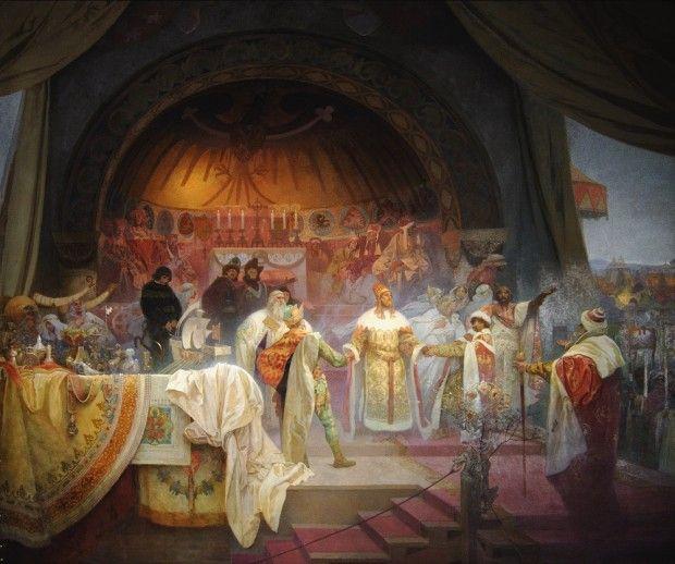 Alphonse Mucha: 'The Slav Epic' cycle No.5: King Přemysl Otakar II of Bohemia (1924)