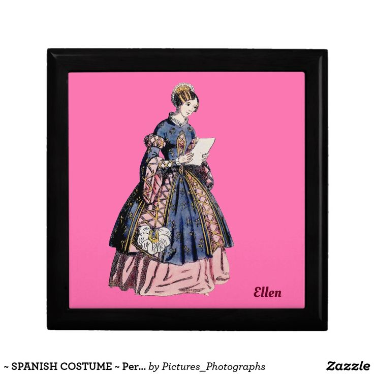 ~ SPANISH COSTUME ~ Personalised for ELLEN ~ Gift Box