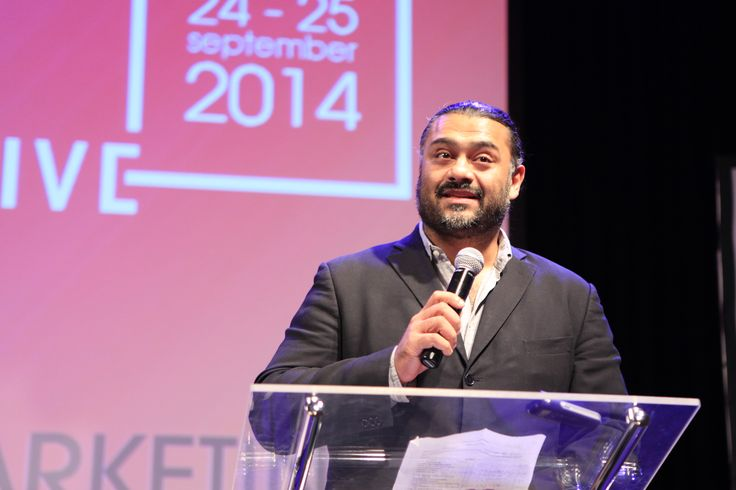 Filmteractive Markt 2014 - Award Ceremony. Adipat Virdi - the head of the jury announcing the results!